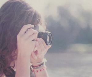 girl, beautiful, and camera image