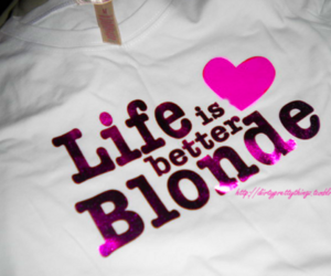 blonde, life, and pink image