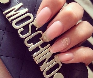Moschino, nails, and cute image