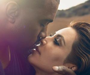 love, kim kardashian, and kanye west image