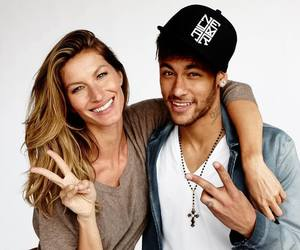 neymar, neymar jr, and Gisele Bundchen image