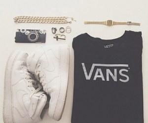 fashion, nike, and vans image