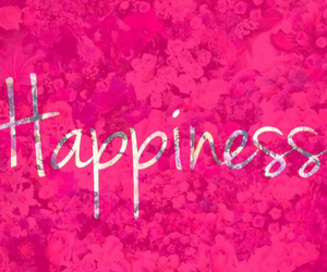 pink, flowers, and happiness image