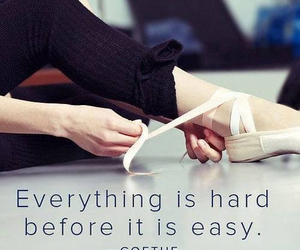 quote, ballet, and hard image