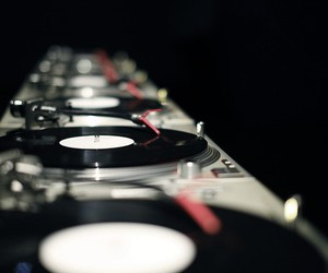 music, dj, and black and white image