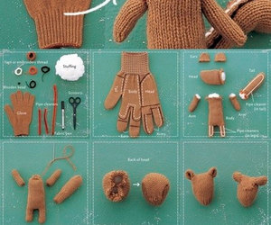 diy, gloves, and bear image