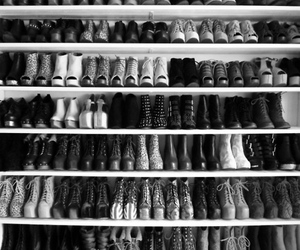 awesome, black & white, and boots image