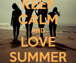 summer, love, and keep calm image