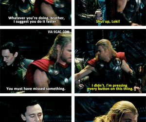 funny, thor, and loki image
