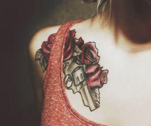 tattoo, gun, and ink image
