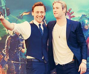 chris hemsworth, tom hiddleston, and thor image