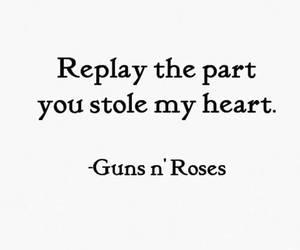 heart and guns n' roses image