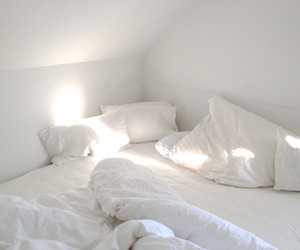 bed, black, and minimal image