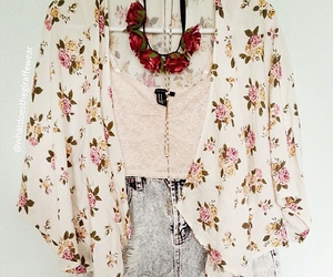 fashion, flowers, and clothes image