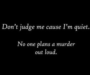 murder, quiet, and quotes image