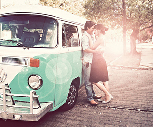 couple, beautiful, and van. image