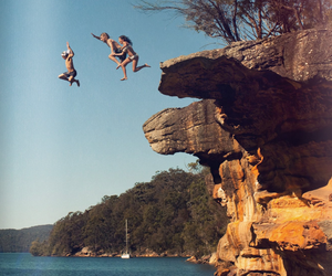 summer, friends, and jump image