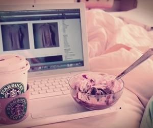 starbucks, ice cream, and pink image