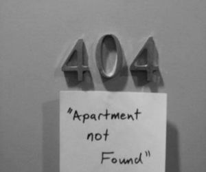 404, funny, and apartment image