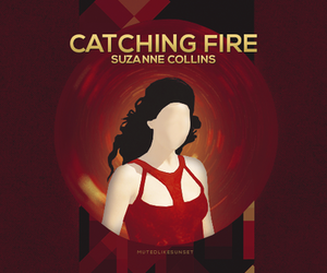 katniss everdeen, catching fire, and suzanne collins image