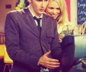 david tennant, doctor who, and billie piper image