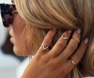 rings, hair, and style image