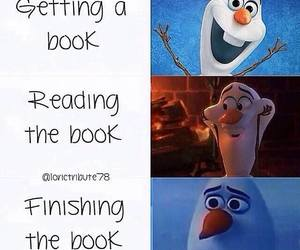 book, olaf, and frozen image