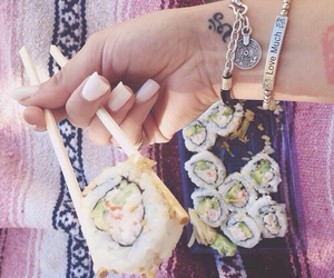 summer, nails, and sushi image
