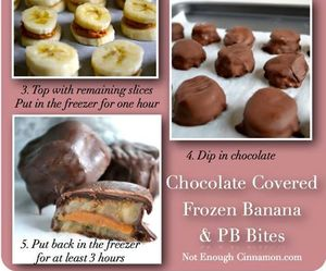 banana, chocolate, and diy image