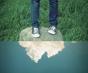 cloud, converse, and legs image
