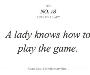 lady, game, and quote image