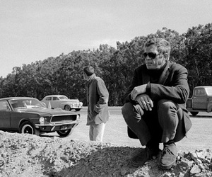 steve mcqueen and vintage image
