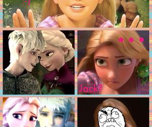 jack frost, elsa frozen, and rapunzel image