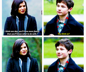 mother and son, the evil queen, and regina mills image