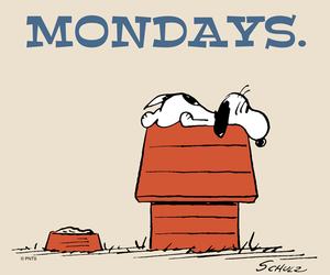monday and snoopy image