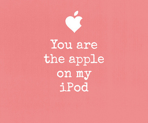 love, apple, and ipod image