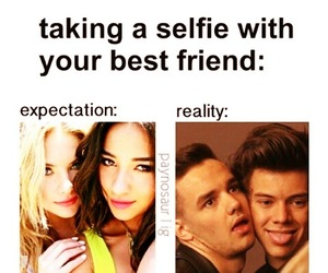 selfie, funny, and one direction image