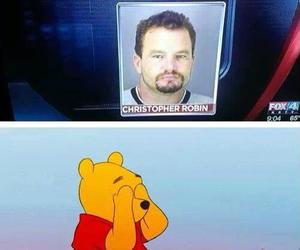 funny, christopher robin, and pooh image