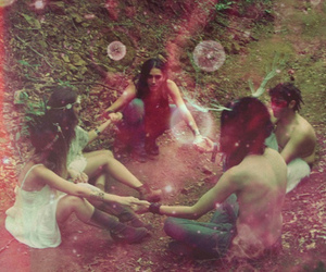 hippie, friends, and hippies image