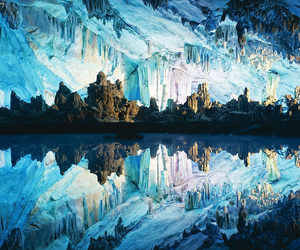 china, ice, and cave image