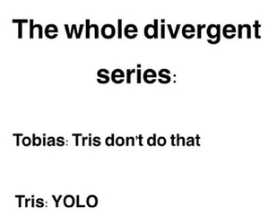 divergent, funny, and tobias image