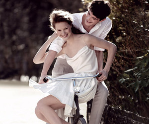 couple, love, and bicycle image