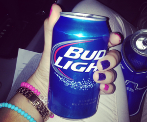 beer, blue, and pink image