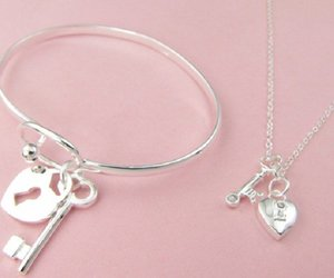 bangle, heart, and key image