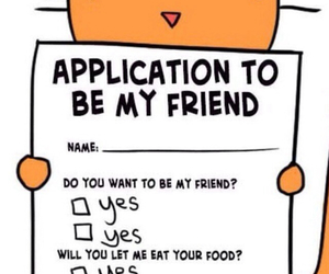friends, application, and food image