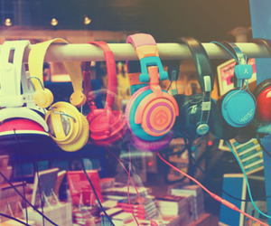 guys, headphones, and photography image