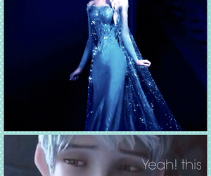 anime, elsa frozen, and jack frost image