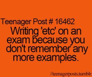 teenager post, exam, and lol image