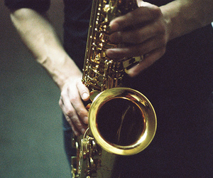 music and saxophone image