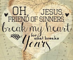 friend, heart, and jesus image